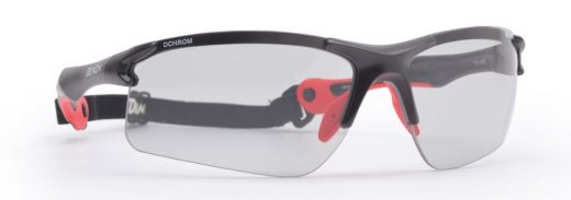 cycling and mtb sunglasses with photochromic dchrom lenses trail model matt black red