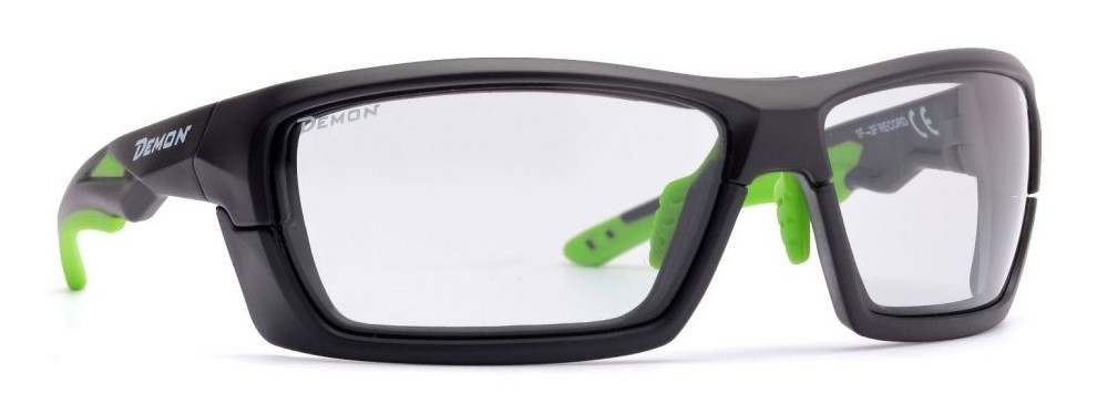 Cycling glasses removable frame photochromic dchrom lenses record matt black