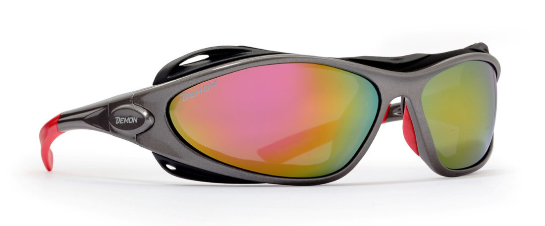 Glacier Sunglasses for men and women category 4 lenses grey red