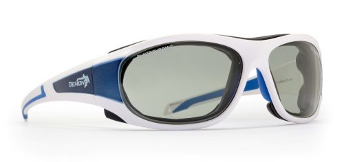 Glacier sunglasses photochromic lenses white blue