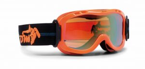kids ski goggles orange double lens