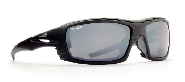 Outdoor sunglasses category 4 lenses matt black grey