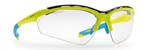 Photochromic cycling glasses for cycling and mtb with sponge hero model neon yellow