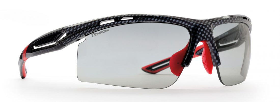 Photochromic dchrom sunglasses for running and cycling cabana model carbon red color