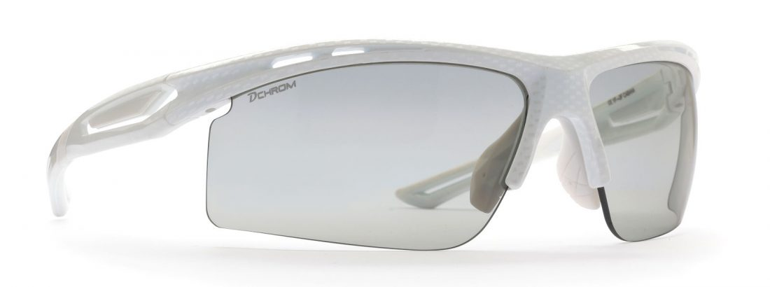 Photochromic dchrom sunglasses for running and cycling cabana model carbon white