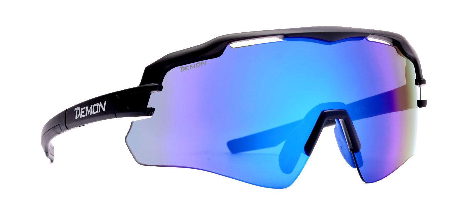 Men/'s MTB Cycling Sunglasses Mountain Bike Sport Fashion Black Blue Mirror Lens