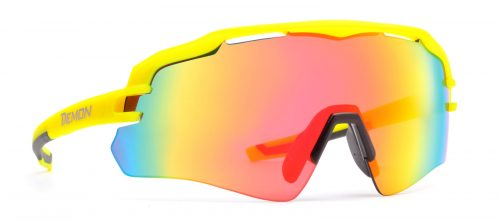 all sports sunglasses with mirror lenses imperial model matt yellow