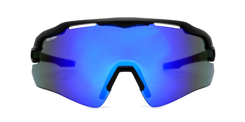 cycling glasses with single lens imperial model matt black