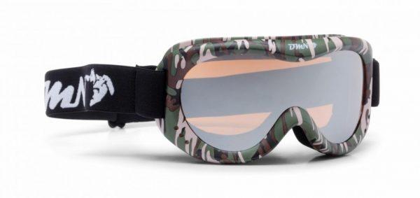 kids ski goggle mirror lens snow 6 Army