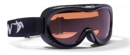 kids ski goggles orange lens snow 6 black