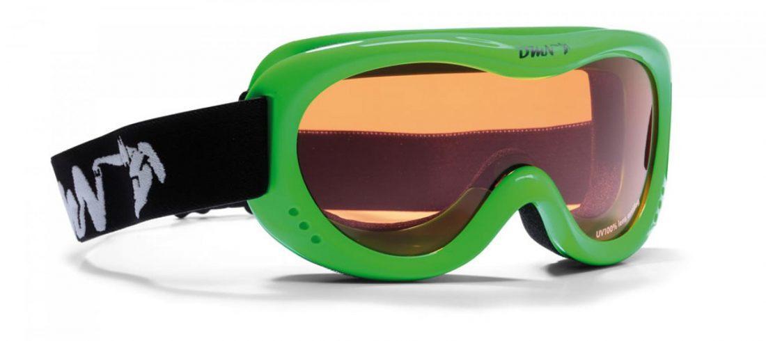 kids ski goggles orange lens snow 6 green fluo