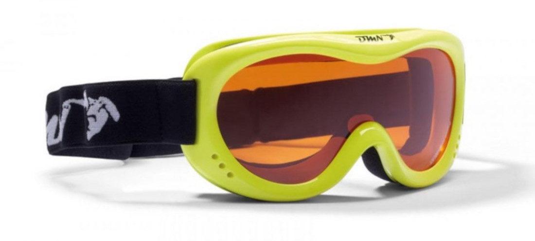 kids ski goggles orange lens snow 6 model yellow fluo
