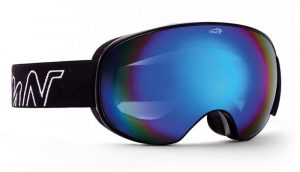 ski goggle with magnetic interchangeable lenses black blue