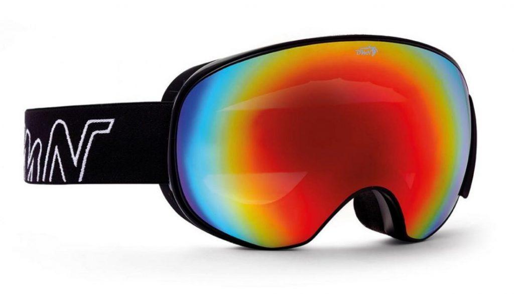 magnetic interchangeable lenses snow mask black red