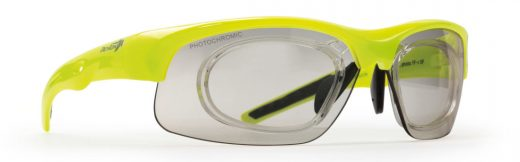 photochromic prescription glasses for cycling and running fusion yellow