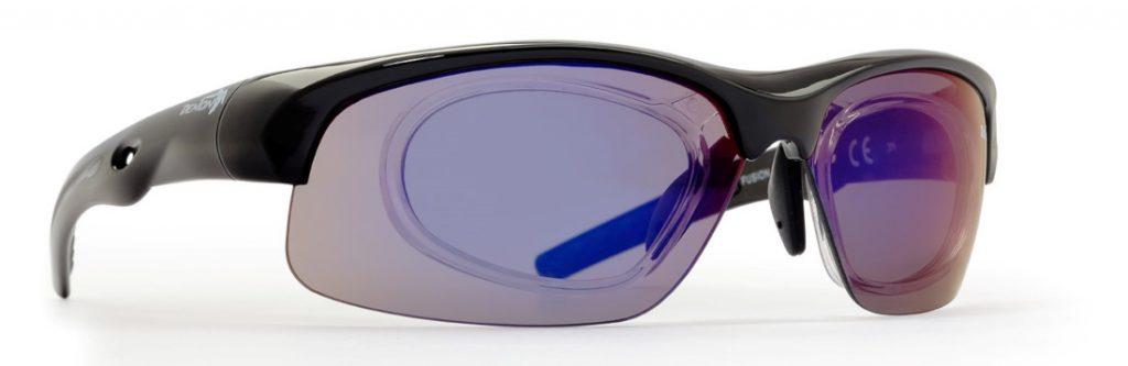 prescription all sports sunglasses fusion interchangeable lenses shiny black