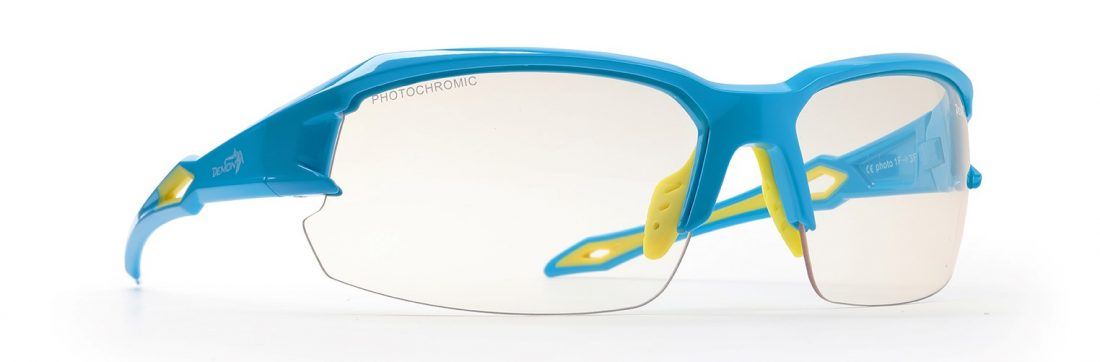 cycling and runnign sunglasses tiger model photochromic lenses light blue