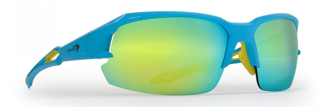 running and cycling sunglasses with interchangeable lenses tiger model light blue