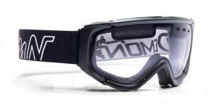 Ski goggle for night skiing clear lenses matrix model matt black