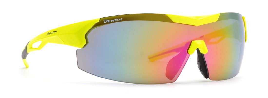 cycling and running sunglasses visual model neon yellow