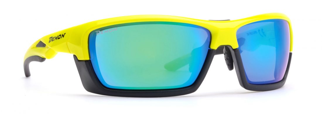 cycling and runnign sunglasses black yellow removable frame