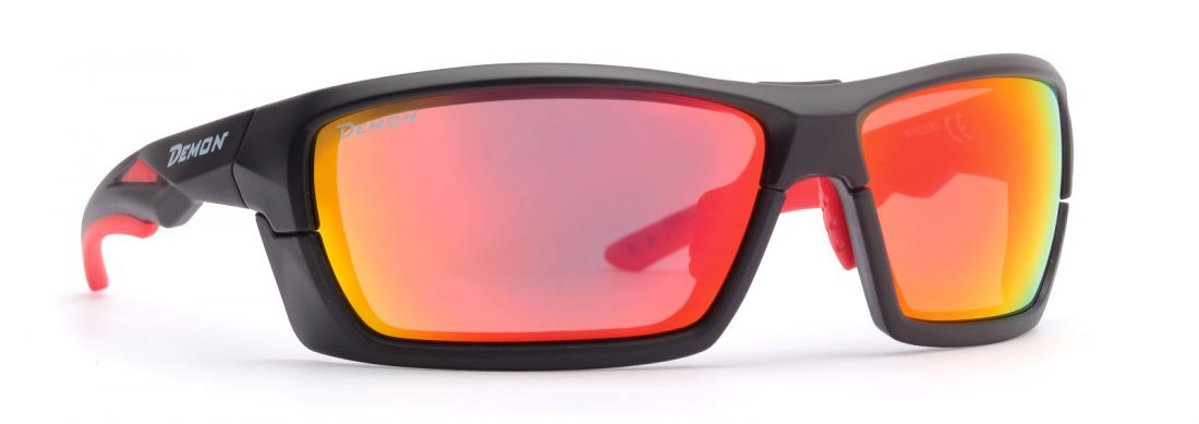 cycling and running sunglasses with removable frame matt black