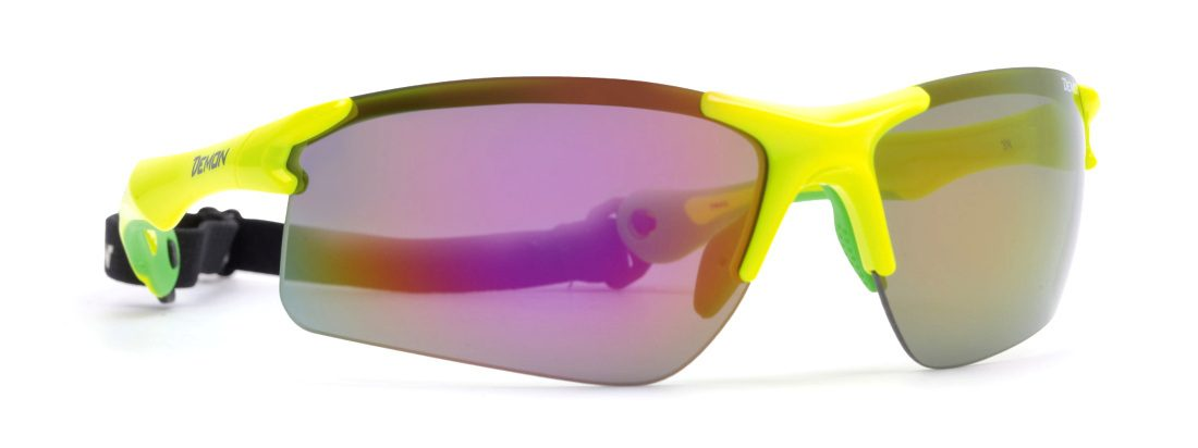 cycling and running sunglasses dchange lenses neon yellow trail model