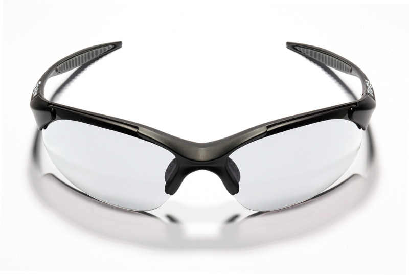 Cycling sunglasses with photochromic lenses for road cycling