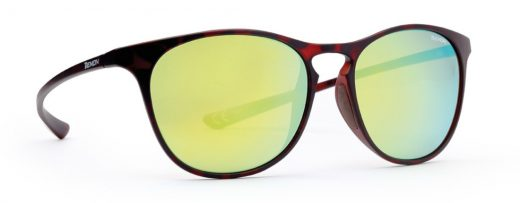 Mirrored Sport and fashion sunglasses UNIX model matt brown color