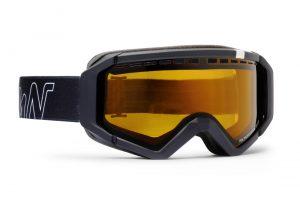 Neu photochromic polarized lenses ski goggle total black