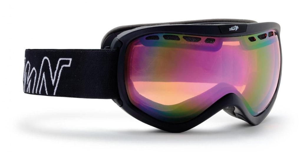 OTG ski goggle for men raptor orange lenses black color