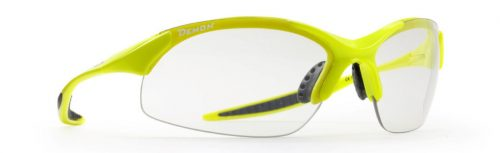 Photochromic cycling sunglasses with ultralight frame 832 model neon yellow