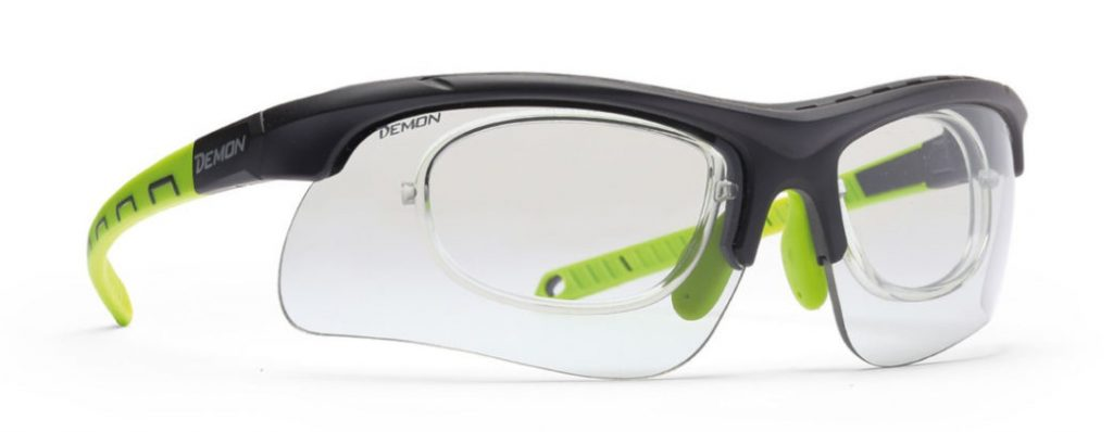 photochromic sports prescription glasses for all sports infinite dchrom black green