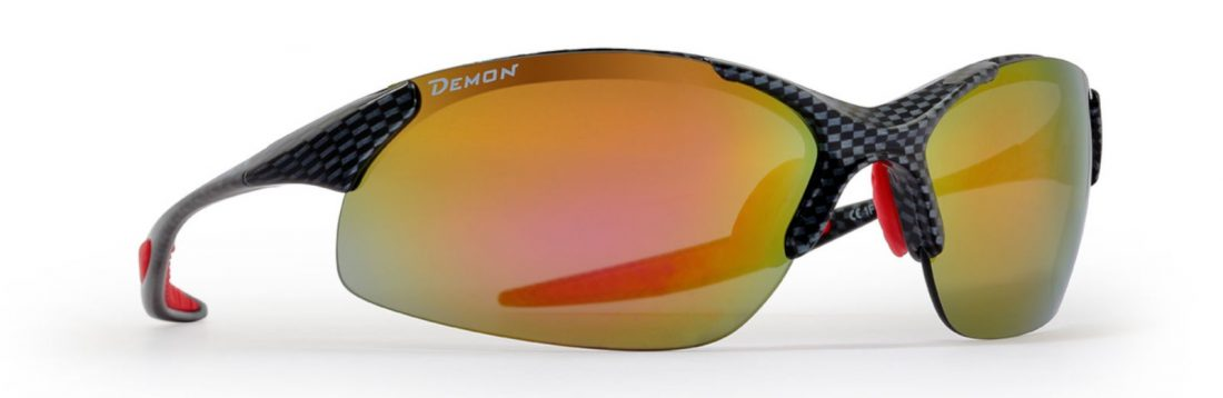 Running sunglasses with mirrored interchangeable lenses ultralight frame 832 carbon