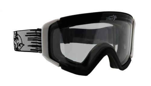 Ski goggle transparent lens peak model for snowy days
