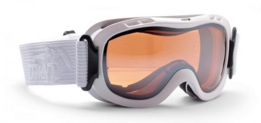 Ski goggles for kids magic orange double lenses matt white