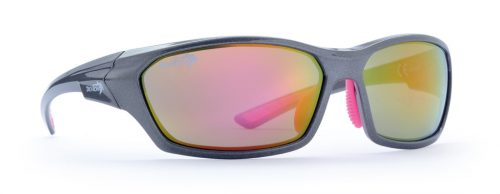 Sport sunglasses for woman and teenager ramp model grey fucsia