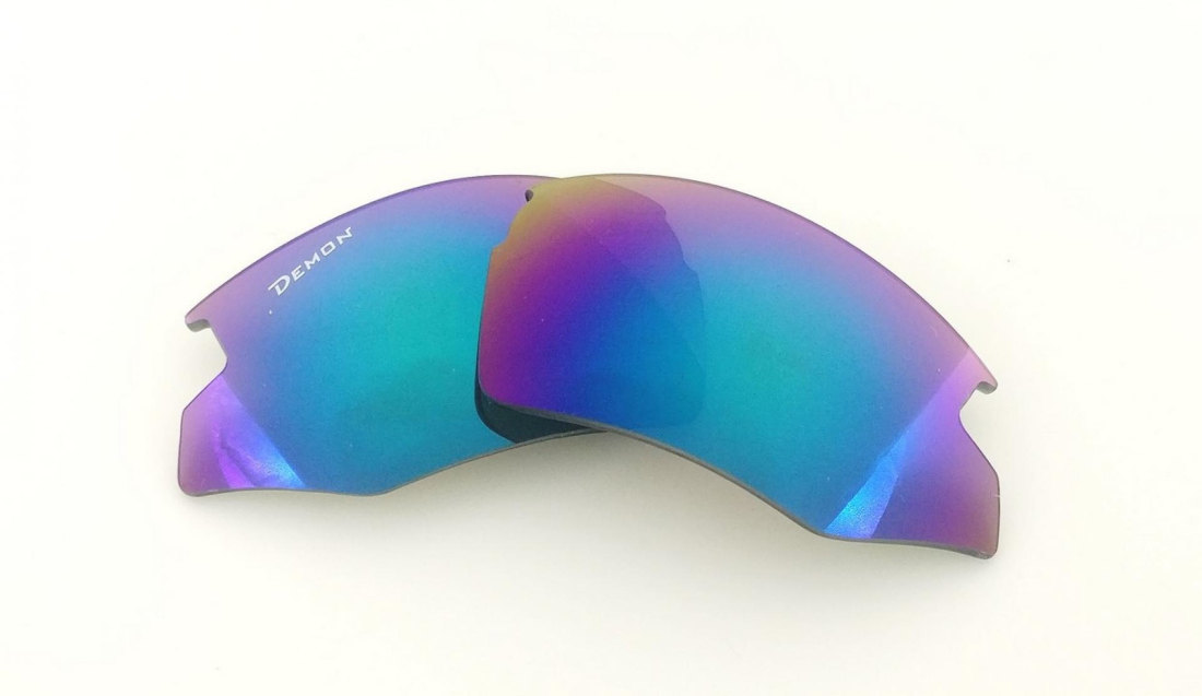 Sport sunglasses with mirror smoke lenses