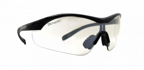 All sports eyewear transparent lens vento model shiny black