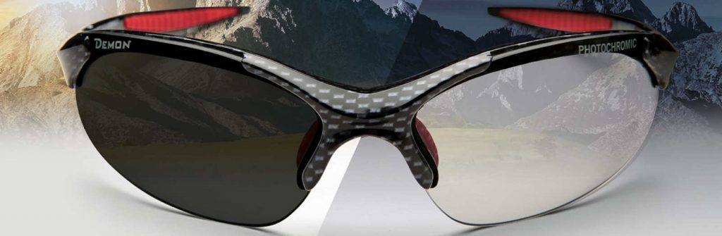 All sports sunglasses 832 model photochromic lenses carbon red