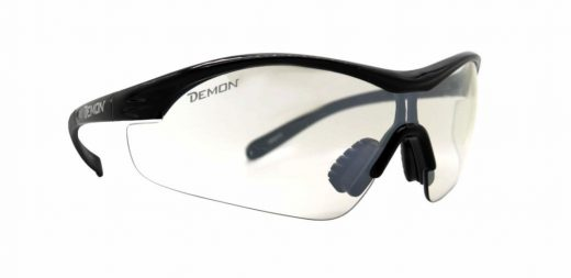 Cycling and mountain bike glasses for night vento transparent lens shiny black
