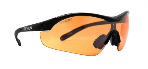 Cycling and mountain bike glasses orange lens for cloudy weather vento black