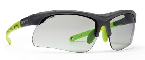 Cycling and Mtb Sunglasses photochromic dchrom lenses infinite optic matt black green