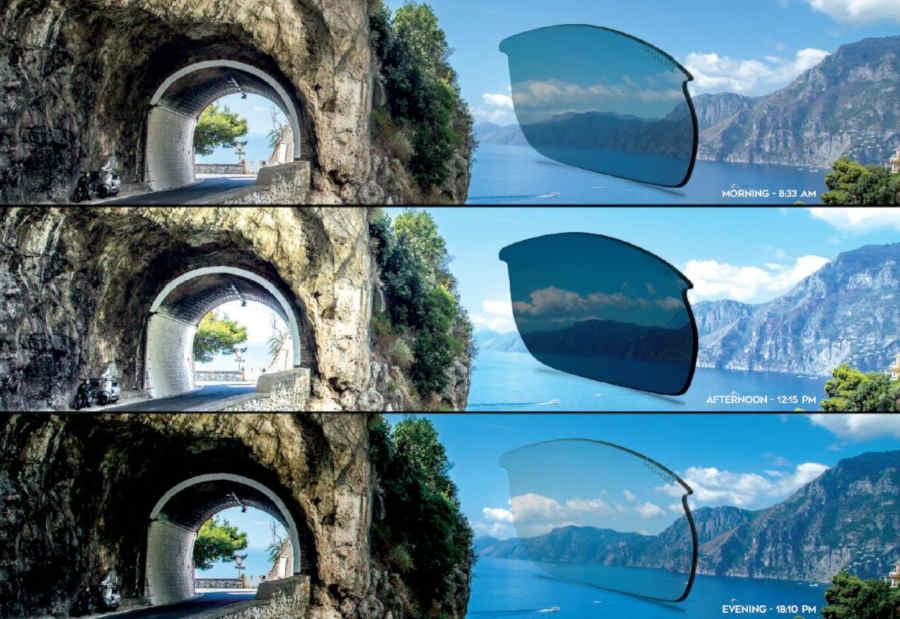 photochromic dchrom lenses for running and trail running sunglasses