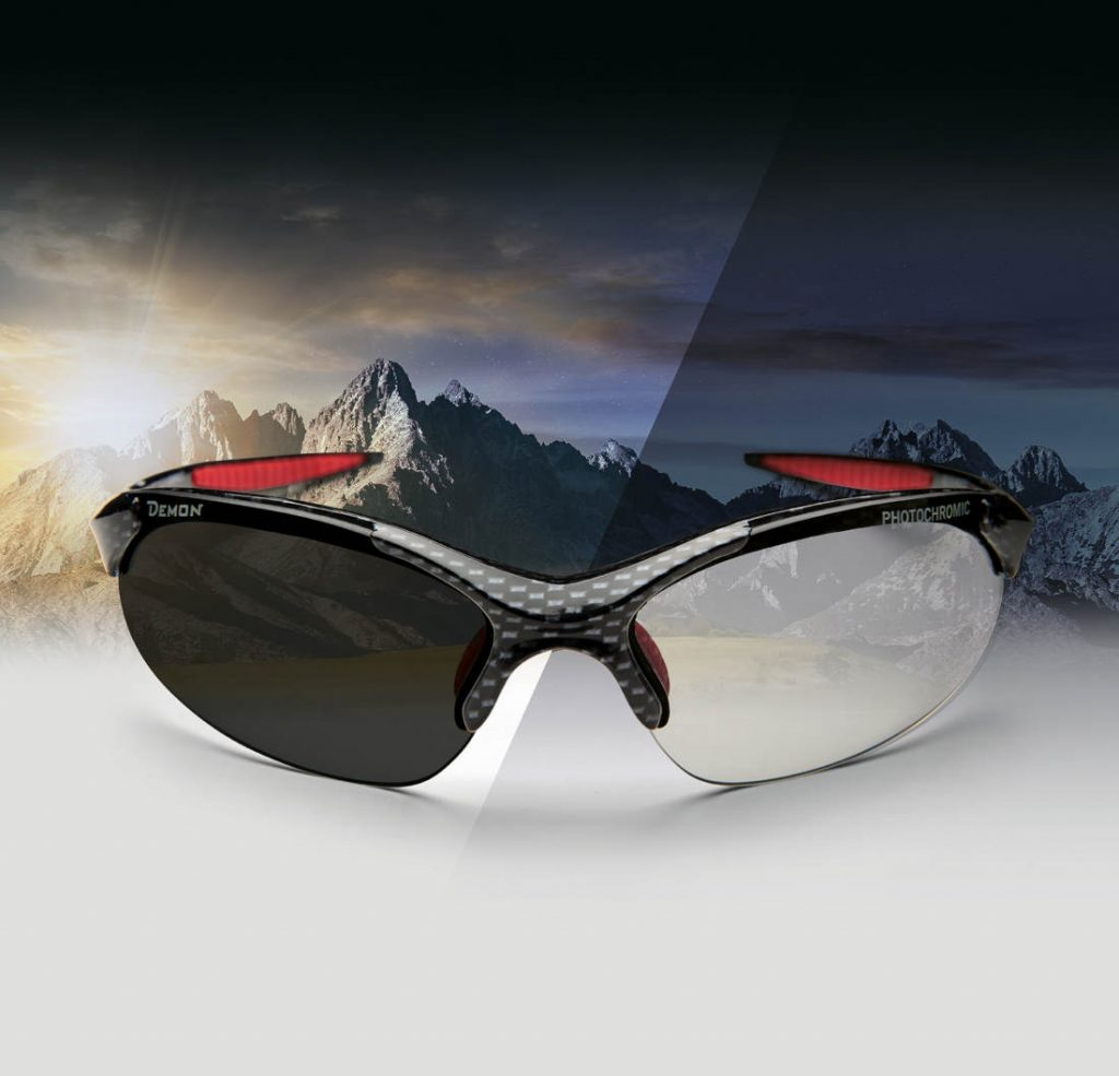 Running and trail running and cross country sunglasses 832 model dchrom photochromic lenses