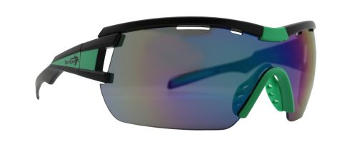Glasses for road cycling with mirror lens vuelta model black green