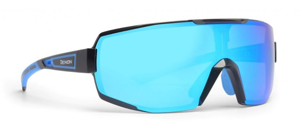 mirror smoke lens prescription glasses for all sports performance rx matt black blue