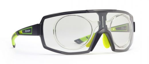 Photochromic single lens eyeglasses for cycling and running performance rx optical clip