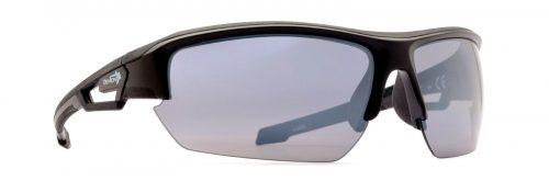 Road Running sunglasses mirror lenses look model matt black grey