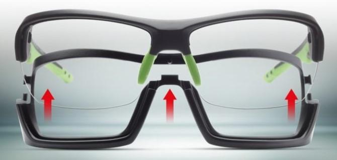 Running glasses for road running and trail running removable frame photocrhomic lenses record model